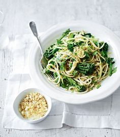 This quick spaghetti dinner for four only costs £5 and is packed with fresh flavour from broccoli and lemon.