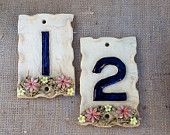 Ceramic door numbers, house number plaque, - pinned by pin4etsy.com