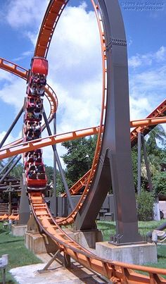 Scorpion (Busch Gardens Tampa). They talked me into going on it one time. Legs were like noodles when I got off. I new there was a reason I never went on it when I lived in FL. KC.