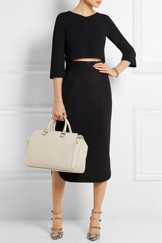 Victoria Beckham. The Victoria matte-leather tote.