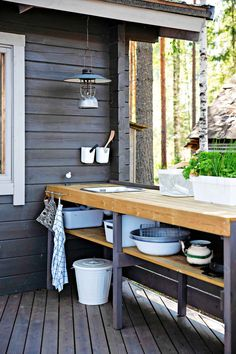 Outdoor Sinks, Outdoor Rooms, Outdoor Dining, Garden Sink, Pergola, Tent Living, Decoration Chic, Cottage Exterior, Diy Outdoor Furniture