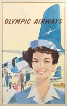 The Olympic Airways Retro Ads, Vintage Ads, Vintage Photos, Vintage Airline, Lightroom, Photoshop, Olympic Airlines, Jets, Old Posters