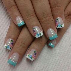 flower part Cheetah Nail Art, Parts Of A Flower, French Tip Nails, Gel Nail Designs, Flower Nails, Beautiful Nail Art, Mani Pedi, Pretty Flowers, Pretty Nails