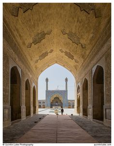 South-side iwan seen from North-side arch, Jameh Mosque, Isfahan. Photo: Quintin Lake