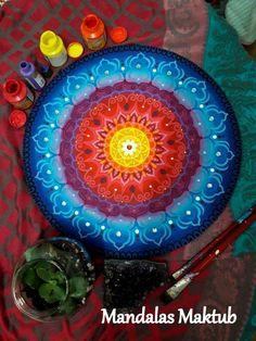 Mandala 50cm. Arte de Rosangela Bavaresco