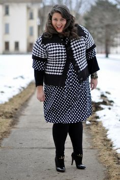 Black and white print mixing! Yes!
