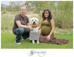 Maternity photo shoot with our dog Wicket :)