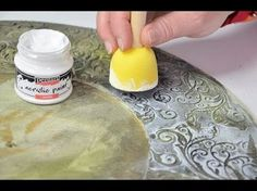 DIY Tutorial - Vintage Mirror and candle stand - Patina effect powder Pentart - YouTube