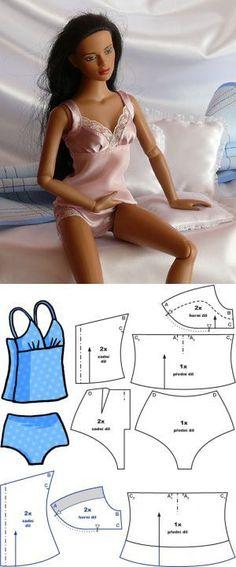 Два-Piece Set - сорочка и брюки :: Шьем для кукол