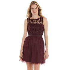 LC Lauren Conrad Lace Fit & Flare Dress - Women's