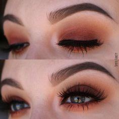 Warm brown and orange tone smokey eye with Modern Renaissance Palette by Anastasia Beverly Hills #beauty