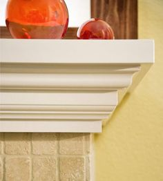 make your own mantel with crown molding