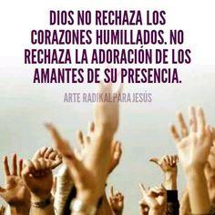 Dios no rechaza los corazones humillados. No rechaza la adoración de los amantes de su presencia.
