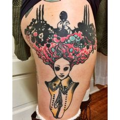 Based on an illustration by Vania Zouravliov - tattoo by Alex Rice at Explosive Tattoo in Salisbury MD