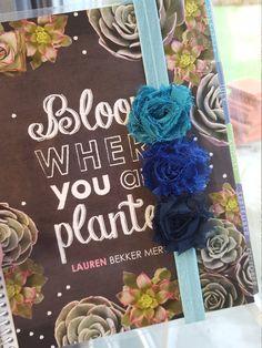 Blue Flower Ombre Planner Bands for Erin Condren, Plum Paper, etc by DiddleDumplingShop on Etsy