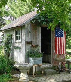 Of my many weaknesses, backyard sheds top the list.  There are so  many clever designs when it comes to gardening, storage, and work  bui...