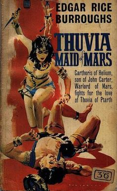 Thuvia, Maid (or Murderess) of Mars — because everyone loves a girl with a gun