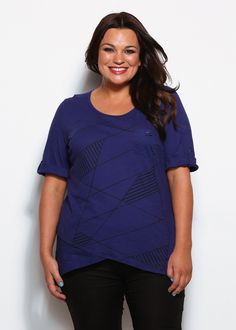 Plus Size Tops | Plus Size Evening Tops - CHECK OUT TEE - TS14
