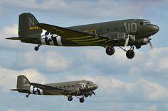 Dakota departure - Duxford D-day Airshow 26-5-2014