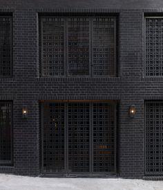 Black brick facade