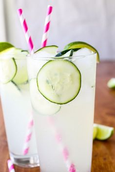 This Easy Cucumber Lime Punch is the epitome of a summer cocktail. Bring a pitcher to a BBQ, serve pool-side, or treat guests at your next shower.
