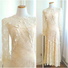 Vintage 1970s Wedding Dress / Bohemian Victorian by MillayVintage, $268.00