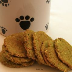 Make these easy Whole Food Doggie Biscuits for your four-legged friends! They'll eat them up!! #healthy #dog