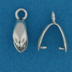 Sterling Silver Pinch Bail with Ring 13mm. A plain pinch bail for stones and crystals, with an integral ring for suspending from chain Excl. Tax: £1.60 Incl Tax: £1.92