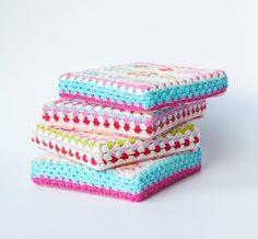 Granny square crochet wall art via Etsy's peaqo