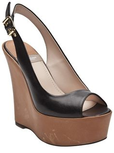 4b24491e859 High wedge slingbacks in black from Baldan. These shoes feature a leather  upper