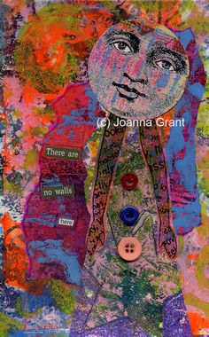 Joanna Grant All in all, a great page that really allows all the interesting colors and texture of the Gelli prints to speak for themselves, due in large part I think to the simplicity of it. Sometimes it really is a good thing to just leave well enough alone.
