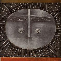 Roger Capron - Tile top coffee table Sun pattern focus. Circa 1960, Vallauris. http://www.galerieriviera.com