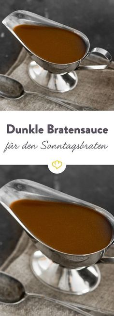Was wäre der Sonntagsbraten ohne Sauce? Aus etwas Gemüse, Zwiebeln, Tomatenmar… What would the Sunday roast be without sauce? From some vegetables, onions, tomato paste and cattle or veal stock you can easily start the classic yourself. Summer Recipes, Fall Recipes, Dinner Recipes, Pasta Recipes, Crockpot Recipes, Chicken Recipes, Cooking Chef Gourmet, Sunday Roast, Tomato Paste