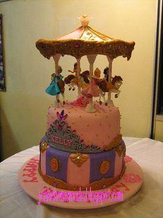 Disney Princess Carousel birthday cake by Jcakehomemade, via Flickr