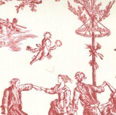 Toile rouge -- flying pom pom boy
