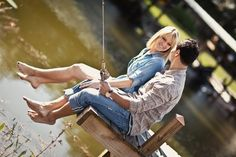 this would have to be one of our engagement pics...with both of us fishing!