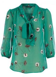 Green dandelion blouse.