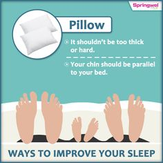 Your lifestyle makes an enormous difference to the quality of your sleep. Be energetic, productive, mentally sharp with picking the #rightpillow which is essential for a good night #sleep .