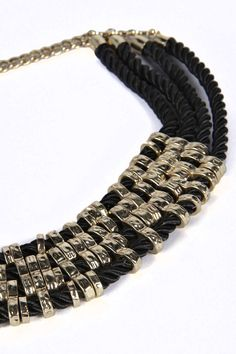 Kim Rope and Metal Detail Collar Necklace alternative image
