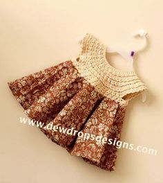 Crocheting meets Sewing - Folksy Flower Dress. free pattern and tutorial for sewing