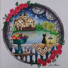 665 Best Romantic Country Coloring Book Finished Pages Eriy Images