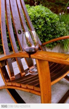 Outdoor Chair w/ Wine Holder apt-in-the-house