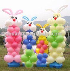 Decoración de Pascua hecha con globos - Easter Balloon Decor