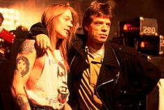 Axl Rose and Mick Jagger