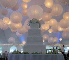 I had paper lanterns at my wedding... not like this (I wish) but I'm glad I used them!