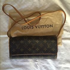 """Louis Vuitton Cross Body / Clutch Louis Vuitton Pouchette Twin Gm Monogram Cross Body Bag. Used, but in great condition. Measurements are 10""""x5""""X1"""". Comes with detachable strap which turns the purse into a clutch. Comes with dust bag. See my closet for additional photos and description. AUTHENTIC!!! This item excluded from 20% bundle discount. Louis Vuitton Bags Crossbody Bags"""