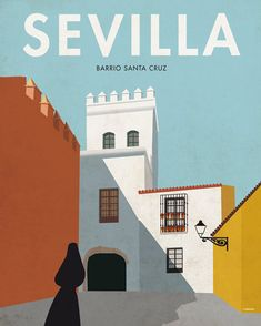 Seville. Spain. Wall decor art. Poster. by SomeLikeItShop on Etsy