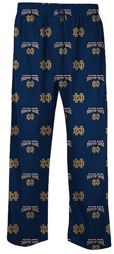 Notre Dame Fighting Irish Men's Supreme Navy Pajama Pants $26.95