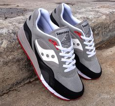 Saucony Shadow 6000-Grey-Black-White