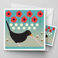 Blackbird Card | Ilikebirds via Polyvore